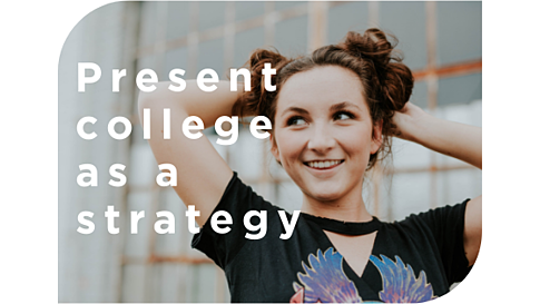 Present college as a strategy