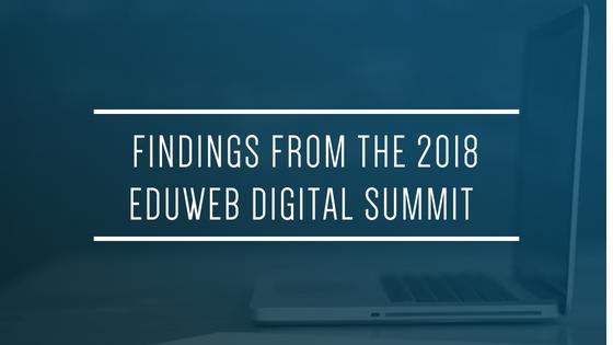Blue Blog Header_Findings from eduWeb 2018 for Glacier advertising