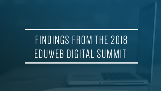 Blue Blog Header_Findings from eduWeb 2018 for Glacier advertising