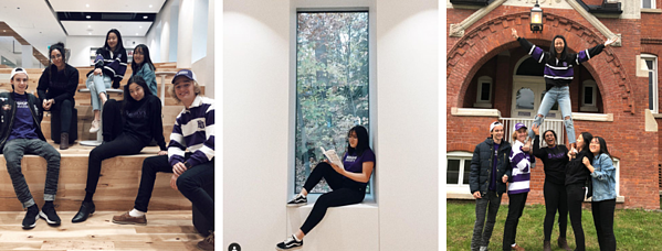 Three photos of Bishop's University micro influencers