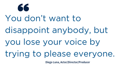 Quote_You don't want to disappoint anybody, but you lose your voice by trying to please everyone.