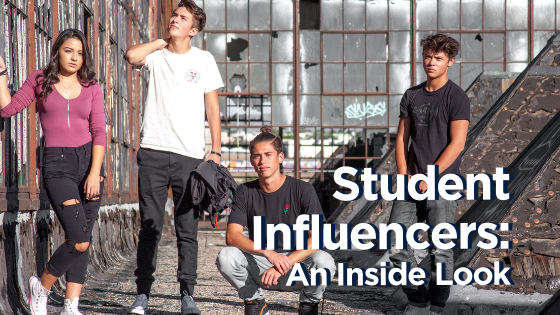 """Student Influencers: An inside look"" Teens posing near abandoned building"