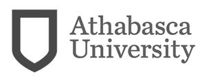 grey AU Athabasca University logo as Glacier advertising client