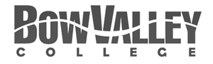grey BVC Bow Valley College logo as Glacier advertising client
