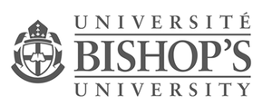 BU Université Bishops University logo for Glacier advertising