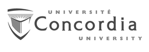 grey Université Concordia University logo as Glacier advertising client