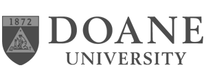 grey Doane University logo as Glacier advertising client