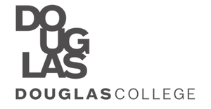 Douglas College logo for Glacier advertising