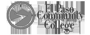 grey El Paso Community College logo as Glacier advertising client