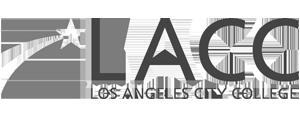 grey LACC Los Angeles City College logo as Glacier advertising client