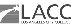 grey LACC Los Angeles City College logo as Glacier advertising client