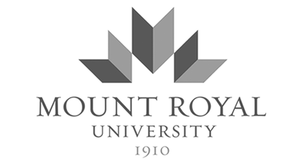 grey MRU Mount Royal University logo as Glacier advertising client