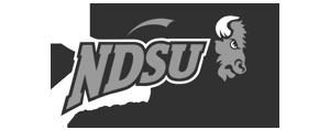 NDSU North Dakota State University logo for Glacier advertising