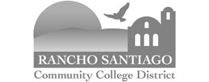 grey Rancho Santiago Community College District logo as Glacier advertising client