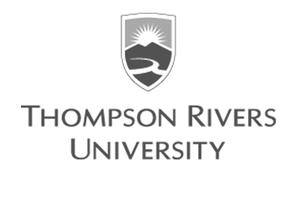grey Thompson Rivers University logo as Glacier advertising client