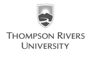grey Thompson Rivers University logo as Glacier advertising client