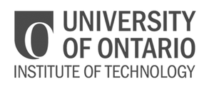grey UOIT University of Ontario Institute of Technology logo as Glacier advertising client
