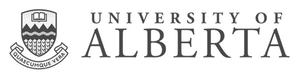 grey U of A University of Alberta logo as Glacier advertising client