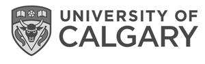 grey U of C University of Calgary logo as Glacier advertising client