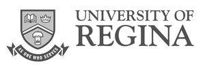 grey U of R University of Regina logo as Glacier advertising client
