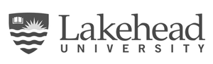 grey Lakehead University logo as Glacier advertising client