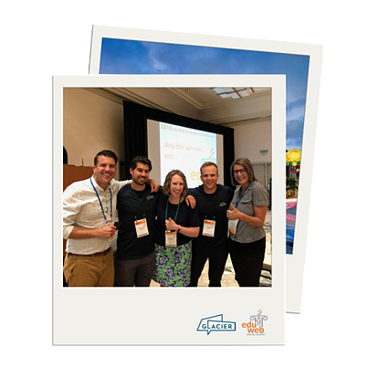 Polaroid picture of Glacier at eduWeb Digital Summit 2018
