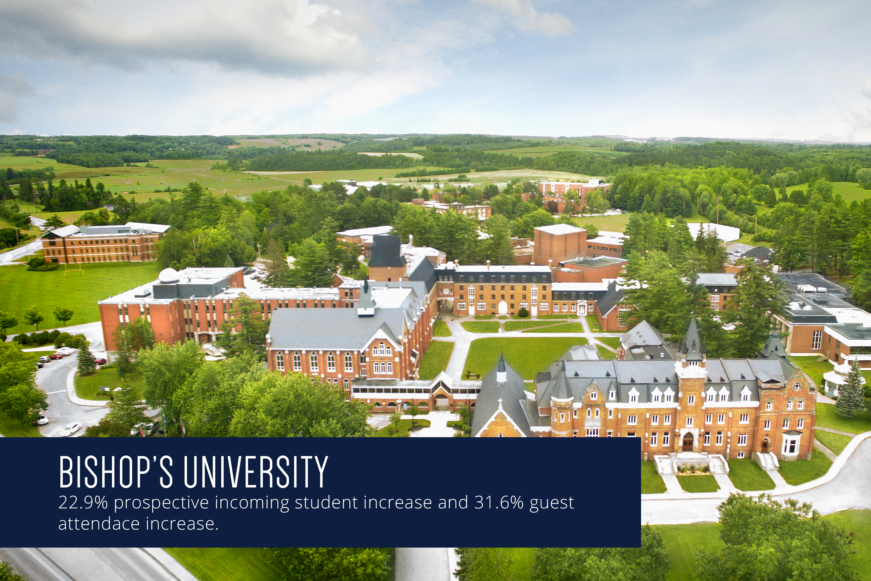Bishop's University increases prospective student applications by 22.9%
