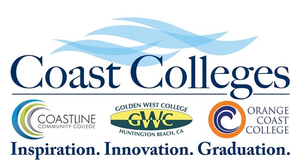 Coast Community Colleges District logo for Glacier adversing for colleges and universities