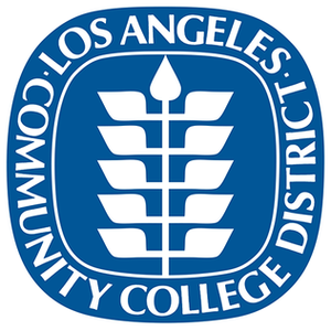 blue Los Angeles Community College District logo for Glacier adversing for colleges and universities